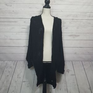 Dreamers Open Front Knit Cardigan Sweater 1XL/2XL